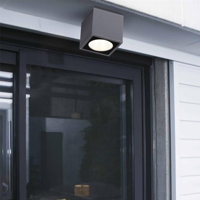 outdoor led ceiling light surface mounted lighting square led for bathroombalconystair way grey fitting warm white - Outdoor Surface Mount Light