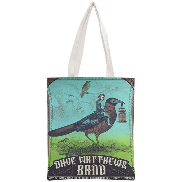 105fde58ea2b Custom Dave Matthews Band Cotton Canvas Shopping Bags 30x35cm Tote Bag  Reusable Handbag Women Shoulder Cloth Pouch Foldable