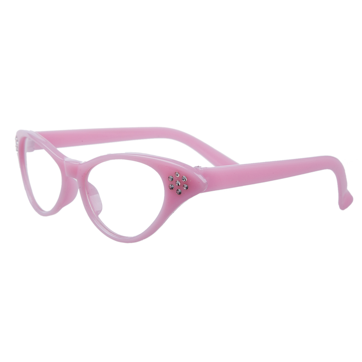 Humble Mytl-pink 50s Grease Ladies Rock And Roll Fancy Dress Glasses Women's Glasses