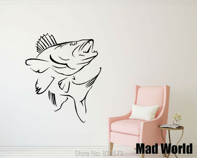 Mad World Koi Carp Pond Fish Chinese Coi Animal Wall Art Stickers Decal Home