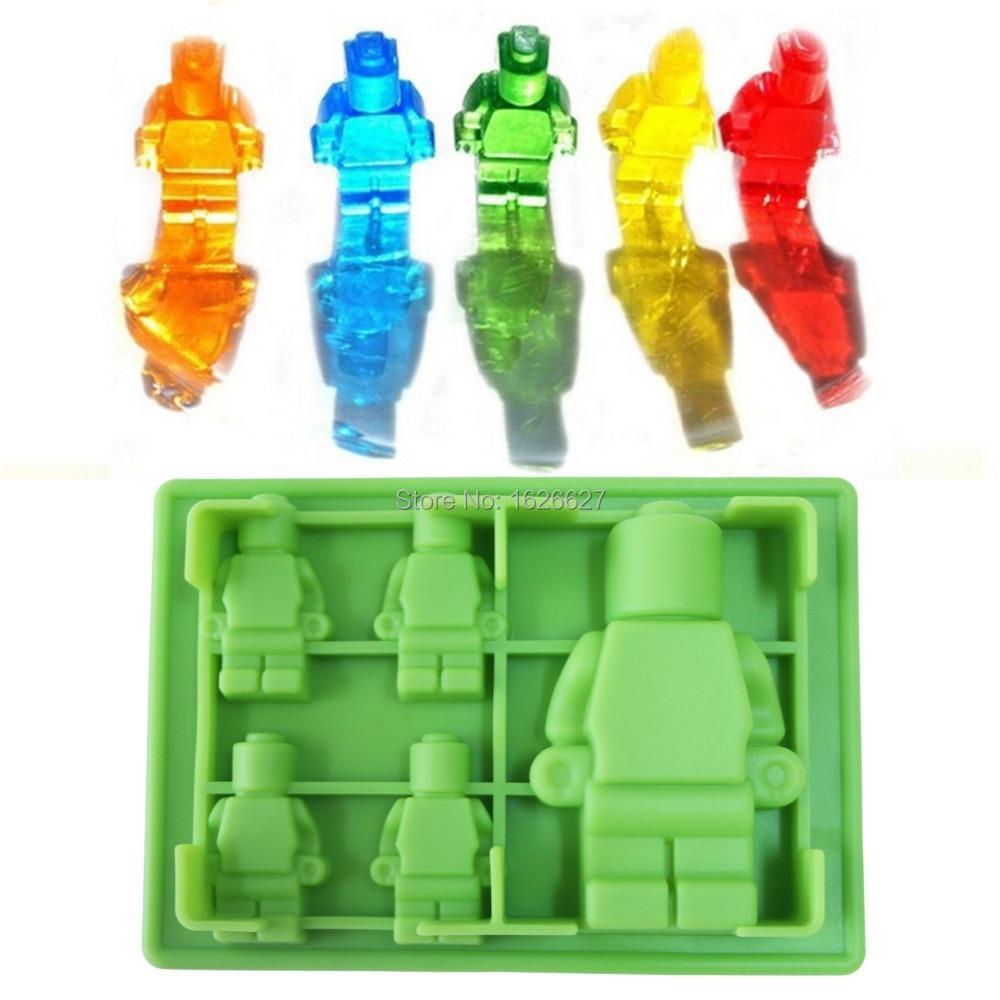 Sicone Lego Mold 5x Silicone Robot Ice Mold Ice Cream Tools Ice Cream Tubs Silicone lego Mold Cake Mold