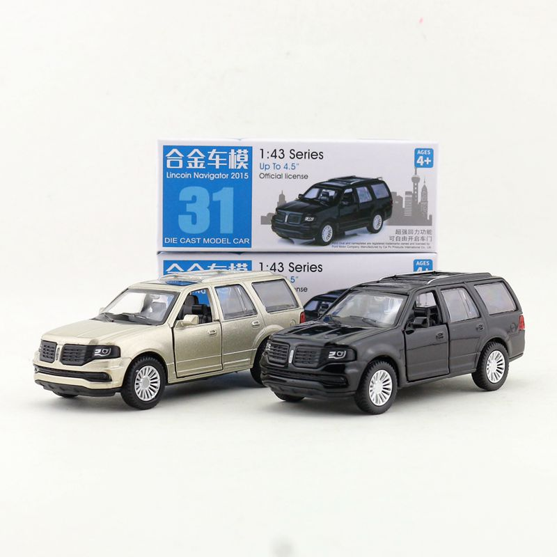 1:46 Scale/Diecast Toy Model/Ford Lincoln Navigator 2015 SUV/Super Sport Car/Educational Collection/Pull Back/Gift For Children