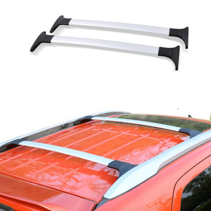 Car Styling For Ford Ecosport 2013-2020 Aluminum Alloy Side Bars Cross Rails Roof Rack Luggage Carrier Rack 2Pcs image