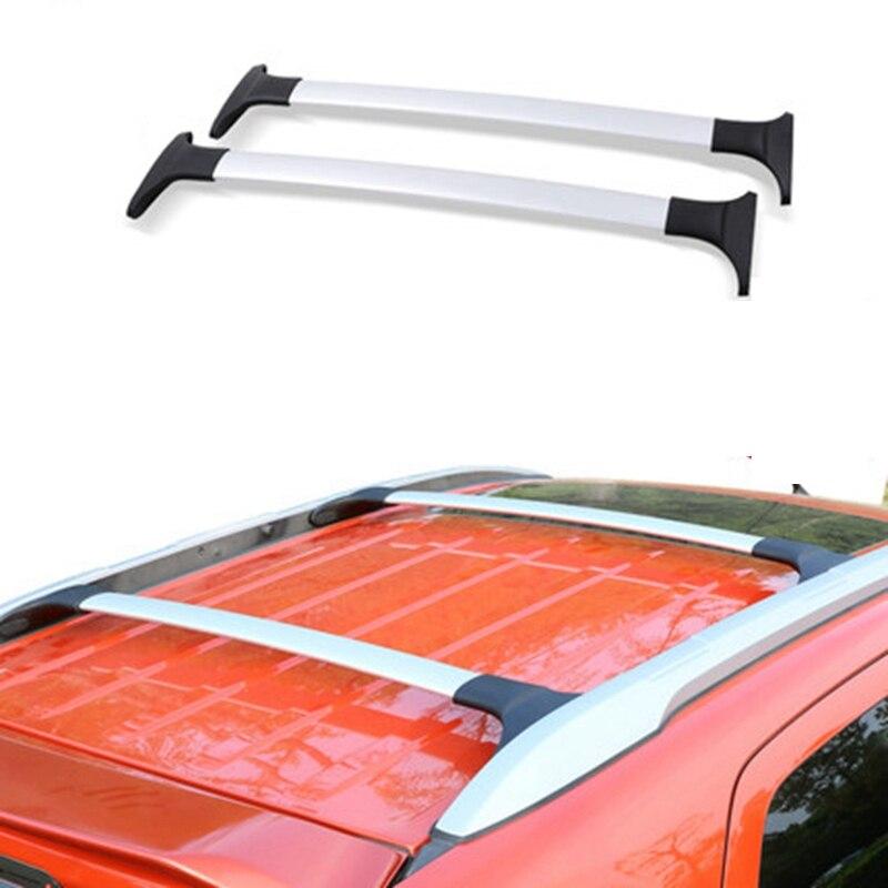 Estilo do carro para ford ecosport 2013-2020 barras laterais da liga de alumínio trilhos transversais rack de teto bagageiro 2 pcs