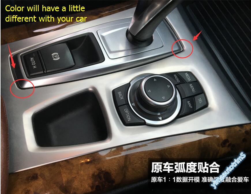 High Quality ! Accessories For BMW X5 E70 2009 - 2013 / X6 E71 2010 - 2014 Stainless Steel Gearshift Knob Panel Cover Trim 1 Pcs high quality stainless steel wire drawing water glass holder panel 1pcs for lexus 2016 rx200 rx450h accessories