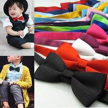 Классический Детский галстук-бабочка для мальчиков и девочек, Детский галстук-бабочка, модный, 35, однотонный, мятный, зеленый, красный, черный, белый, зеленый, животные, галстук на выпускной
