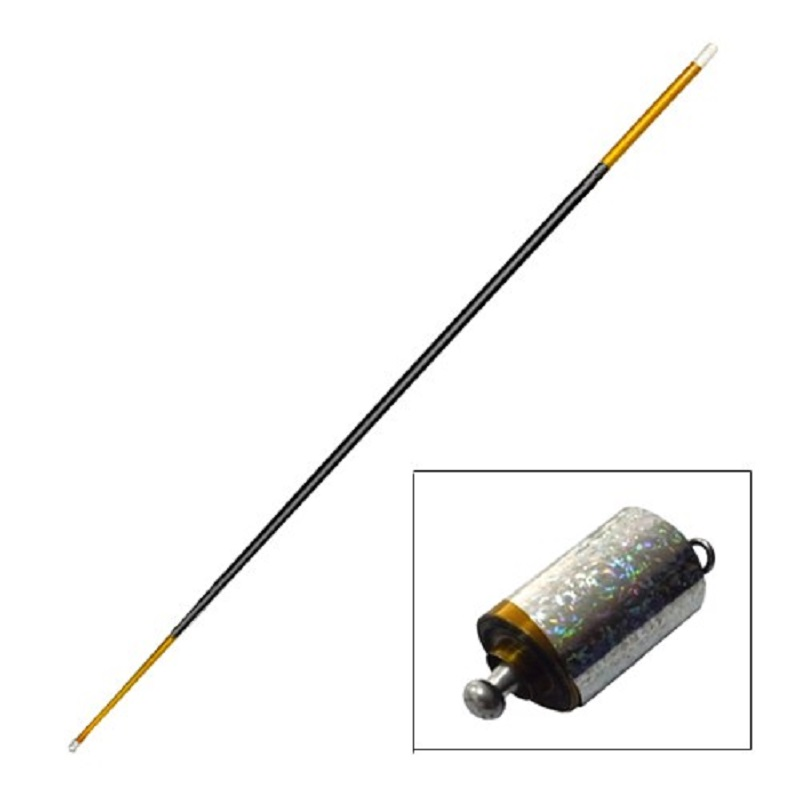 Lange Erscheinen Cane Metall Gold-Schwarz doppel farbe (1,4 mt) bühne stick magie cane close up magic tricks