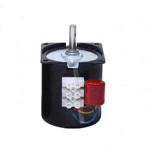 "Image 4 - 220v 14W סינכרוני מנוע 2.5 100 סל""ד נמוך רעש תיבת הילוכים מנוע חשמלי ברביקיו גבוהה מומנט נמוך מהירות סינכרוני AC מנוע"