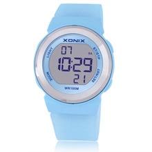 Quente!! Relógio feminino esportivo à prova dágua, led digital de gelatina 100m natação, mergulho, relógio de mão