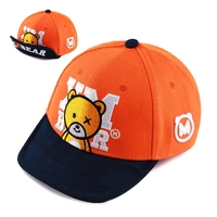 2018 Unisex Top Quality XMBEAR Embroidery Baseball Cap Snapback Flat Brim Turn Up Brim Caps Gay Bear Hat Circumference: 56 63 cm