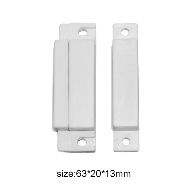 (10 PCS)Wired Plastic Magnetic switch Door Alarm detector NC output Wired Door Sensor Alarm system accessories Magnet sensor