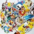60 шт./лот Мода пикачу Покемон Наклейки Симпатичные Декор Наклейки для Стен Автомобиля ноутбук DIY Pokemon Стикер Детские Игрушки Brithdays Подарки