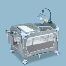 Многофункциональная складная детская кровать портативная дорожная детская кроватка крутой детский манеж Cradel на