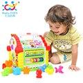 Diversão para crianças Casa Da Árvore Atividade Cube Toy Aprendizagem Casa Com Música/Luzes/Jogos de Aprendizagem de Forma Animal/Cubos Dom Brinquedos educativos