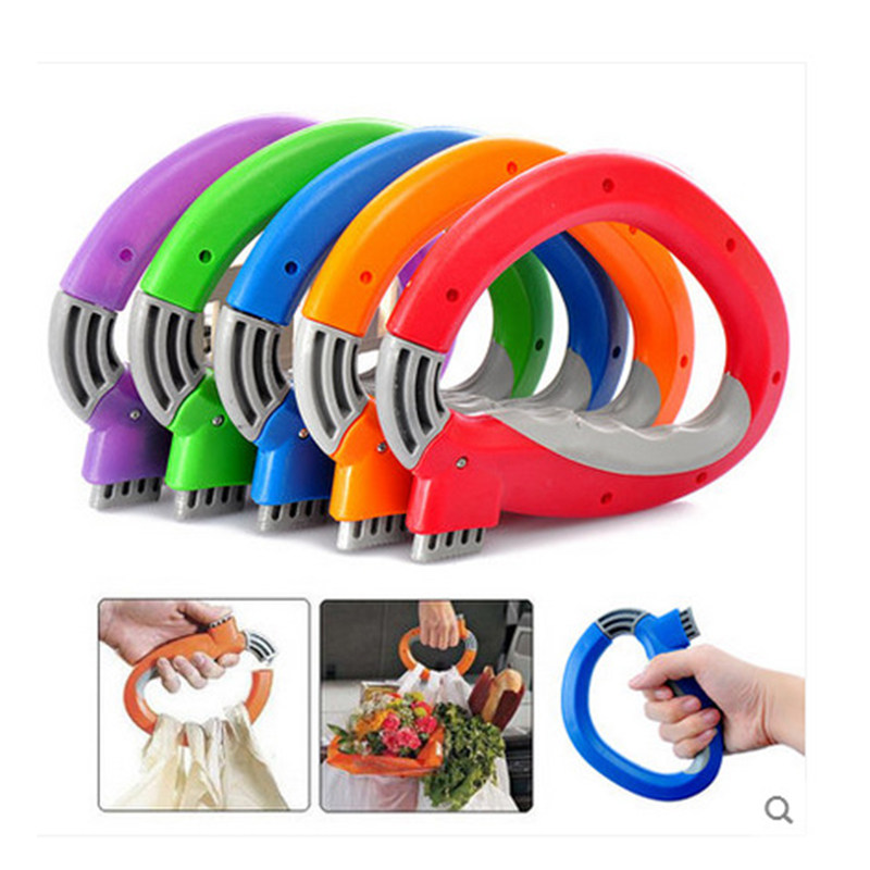 DF804 Portable Vegetable Device Labor Saving Shopping Bag Carry Holder With Keyhole Handle Comfortable Grip Protect Hand Tool