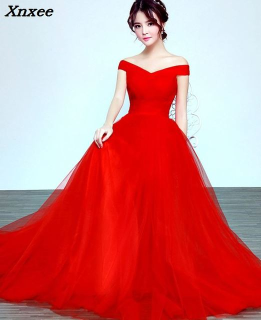 e0f9a66476db Elegant Off the Shoulder Tulle Dress V Neck Bodycon Wedding Party Dress  Burgundy Red Pink Evening Party Maxi Dress Vestidos