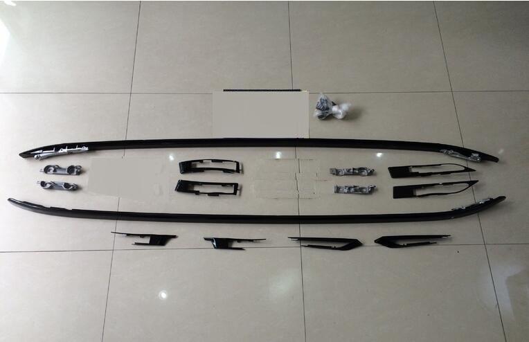 juoda viršutinė stogo bėgių bagažinės šoninių juostų - Automobilių dalys - Nuotrauka 1