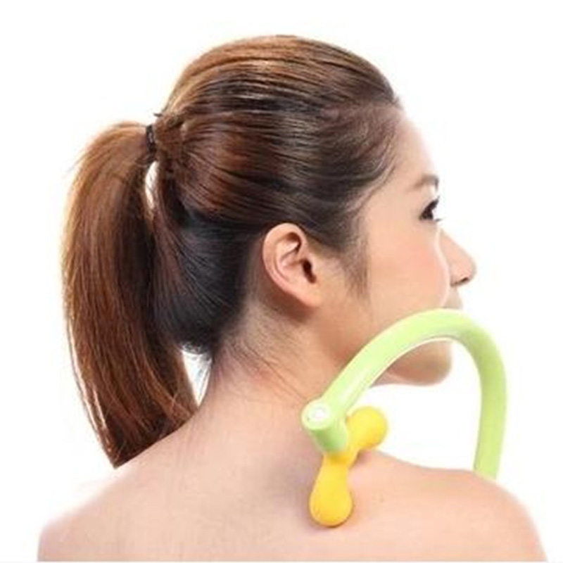 Good Healthy Back Massager Tool Neck Self Muscle Pressure Relieve Stick Manual Massage Point Rod