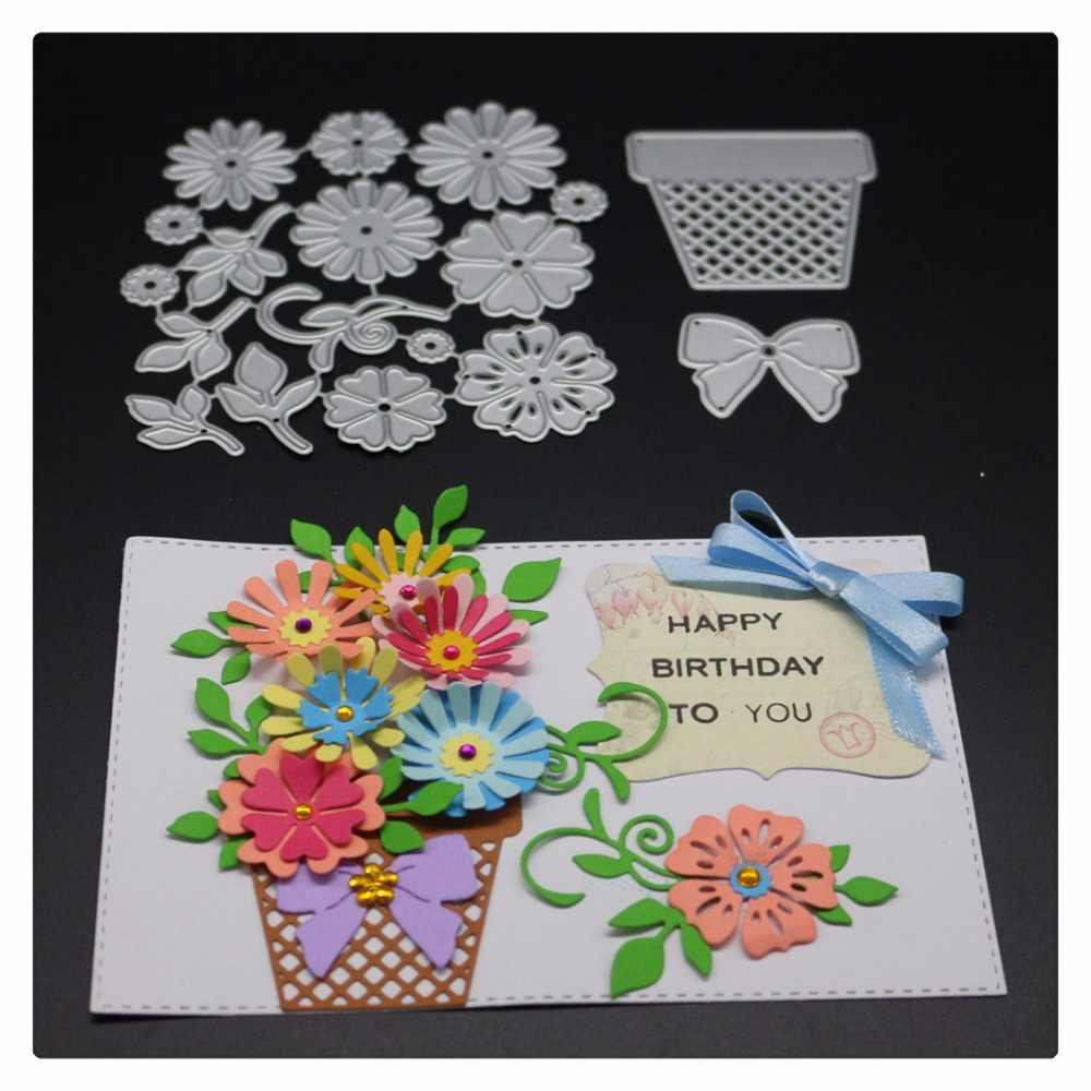 Flower Leaf Metal Die Cuts,Spring Floral Cutting Dies Cut Stencils for DIY Embossing Photo Decorative Paper Dies Scrapbooking Card Making