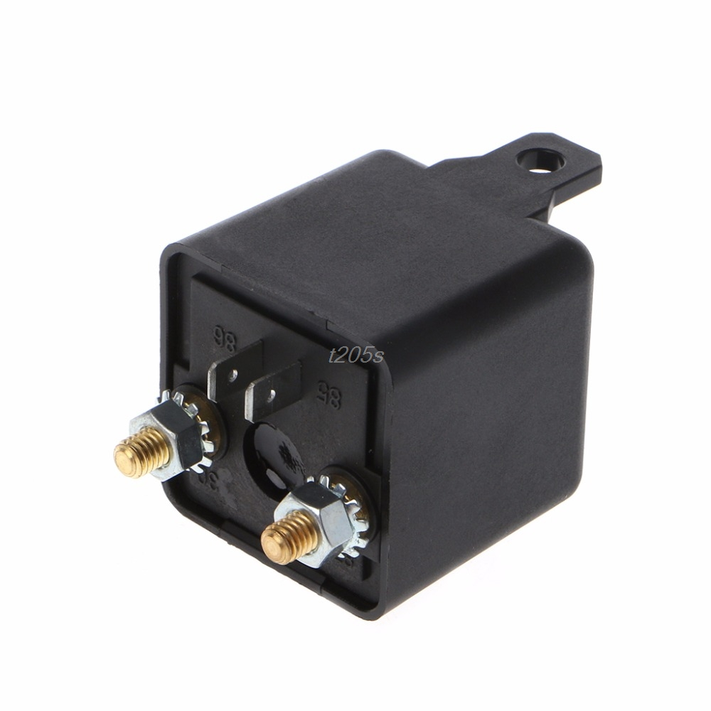 24V/12V DC 200A High Power Car Relay Truck Motor Continuous Type Automotive Switch T12 Drop ship 200a car truck motor automotive high current relay 12v continuous type automotive car relay euipment