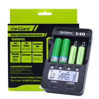 VariCore V40 LCD e cigarette Battery Charger 3.7V 18650 26650 18500 16340 14500 18350 lithium battery 1.2V AA NiMH batteries