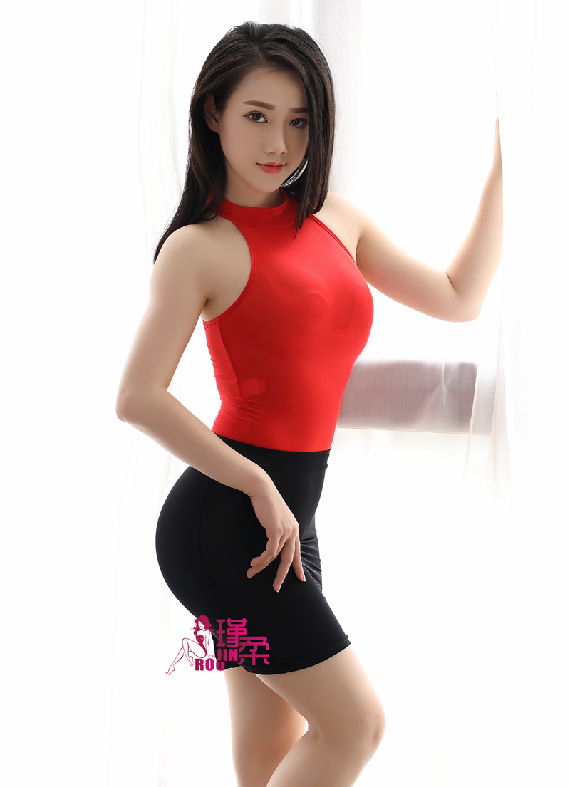 New Sexy Free Match Open Crotch High Cut Bodysuit Ice Silk Transparent Turtleneck One Piece Swimwear Skirt Erotic Leotard F14-26 A Great Variety Of Models Luggage & Bags