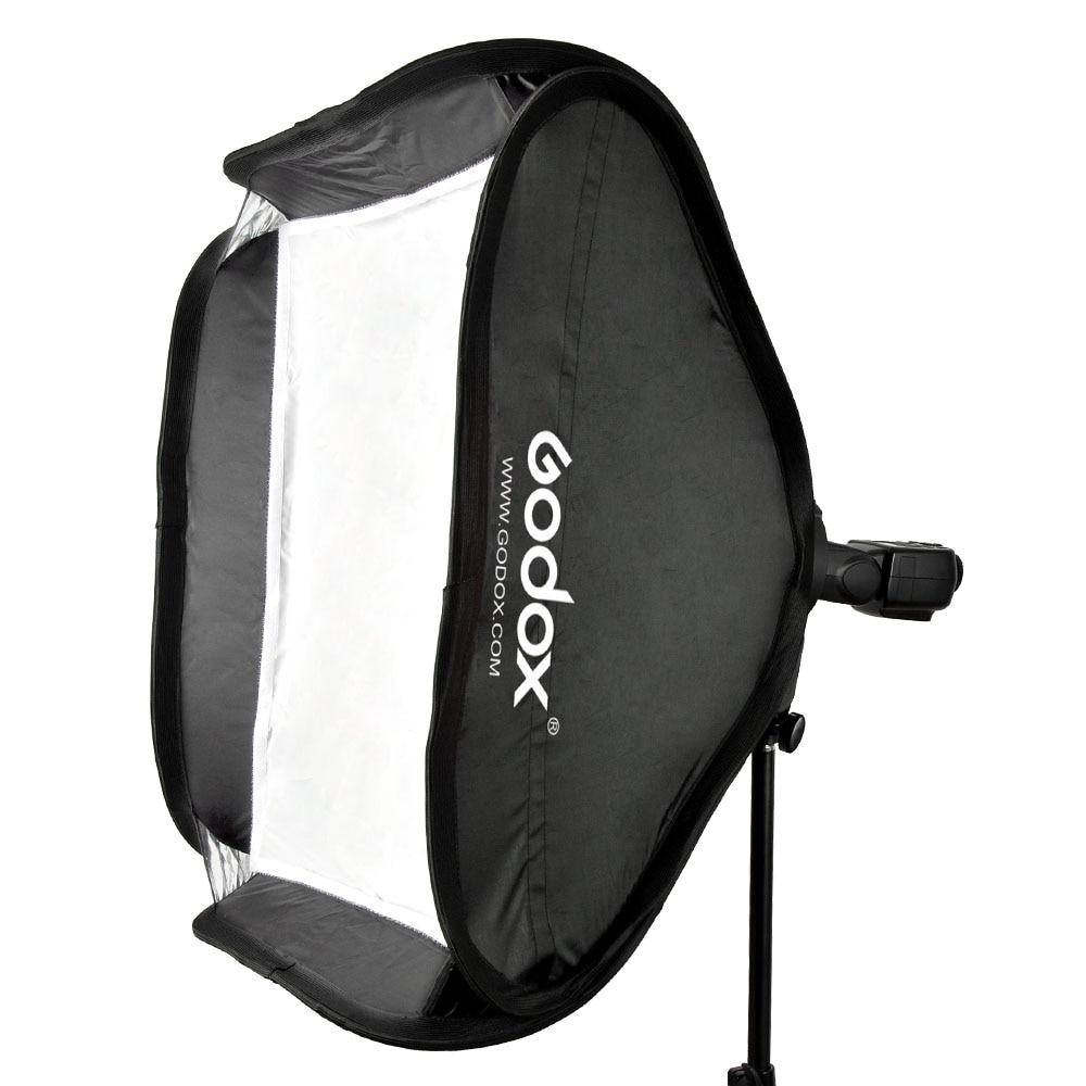 "Godox 40 * 40cm / 15"" * 15"" Softbox Diffuser with S-type Bracket Bowens Holder for Speedlite Flash Light Black & White"