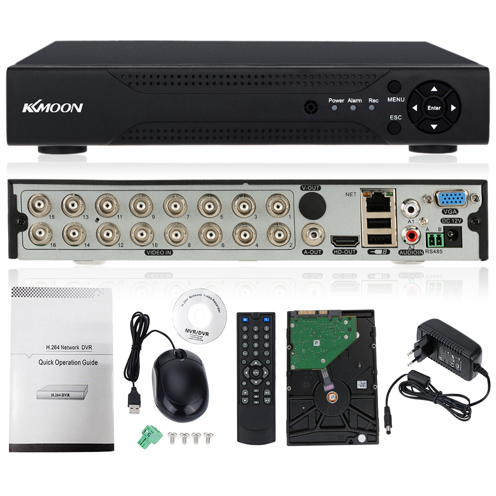 KKmoon 16CH 16Channel AHD DVR 1080N//720P NVR HDMI P2P Cloud