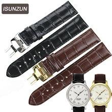 Wholesale 16-24mm Watch Band Strap  Genuine Leather Deployant Buckle Bracelet Brown Black Watchbands