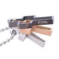 316L Stainless Steel Cross Pendant  With Free Stainless Steel Necklace CS011