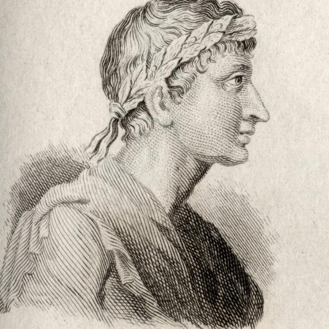 Ovid  Publius Ovidius Naso  43 Bc _ 17Ad. Roman Poet. Engraved By J.W.Cook. Poster Print (13 x 15)