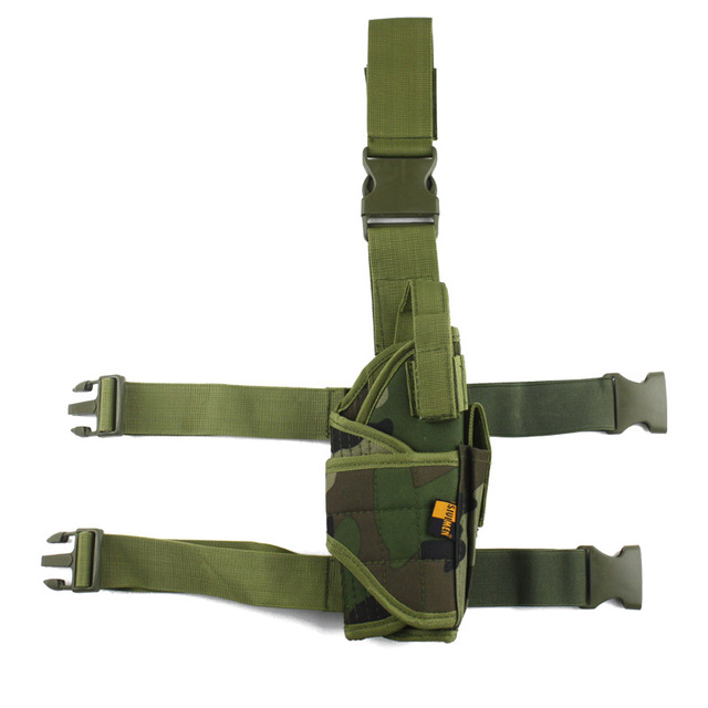 Adjustable  Military Airsoft Holster Hunting Tactical Pistol Drop Leg Holster Thigh Gun Holster for right hand  1