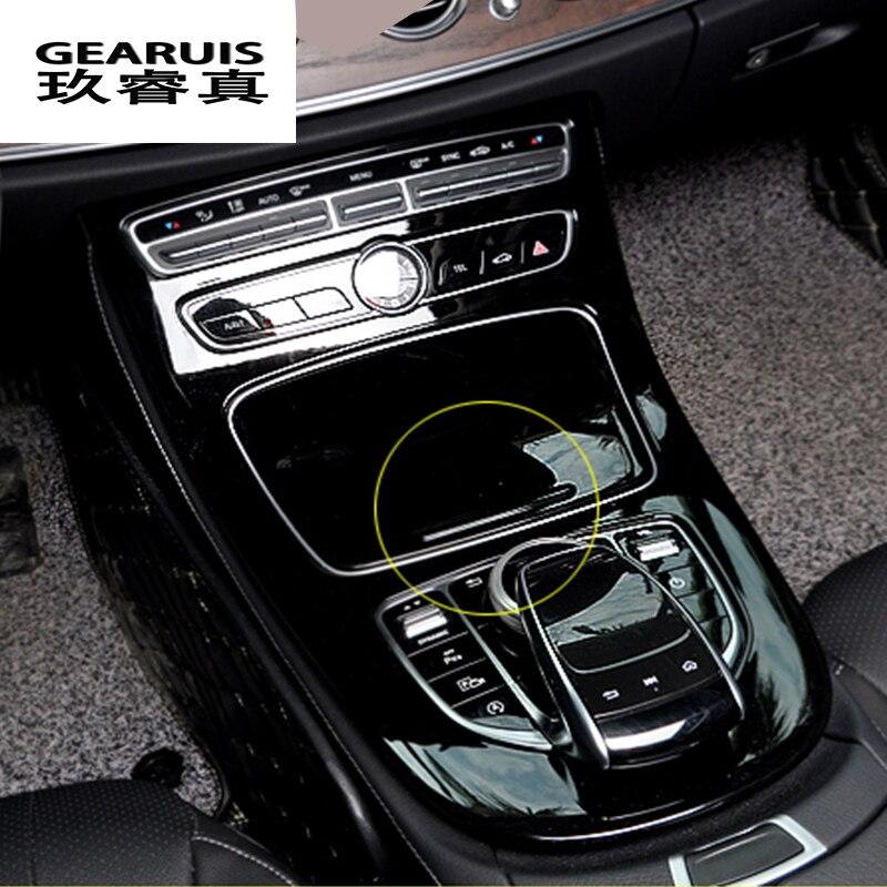Car-styling Console Panel Cover Frame Trim carbon fiber Line Sticker For Mercedes Benz C Class W205 2015-2017 GLC Accessories