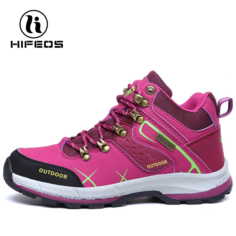 HIFEOS 2017 Hiking Boots Couple shoes Non-slip Damping Trekking Mountaineering Breathable Waterproof Camping Exercise Ankle цена и фото