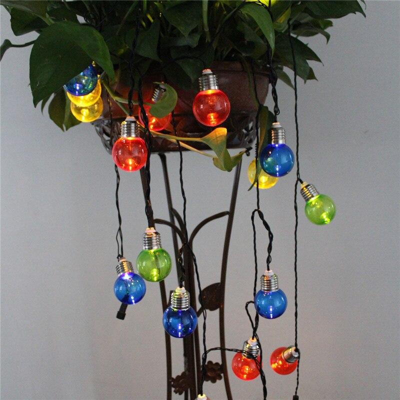 Colorful G50 Bulb Solar Power Outdoor String Light Decorative Lighting String for Garden Patio Festival lantern