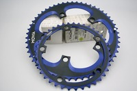 도로 자전거 체인 링 세트 53/39 톤 bcd130 5 팔 154 그램 블랙/블루 CNC 154 그램/