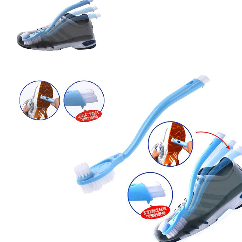 1 Pc Household Multifunction double long handle clean shoe brush Cleaning Brush Washing Toilet Lavabo Home Cleaning Tools 9Z