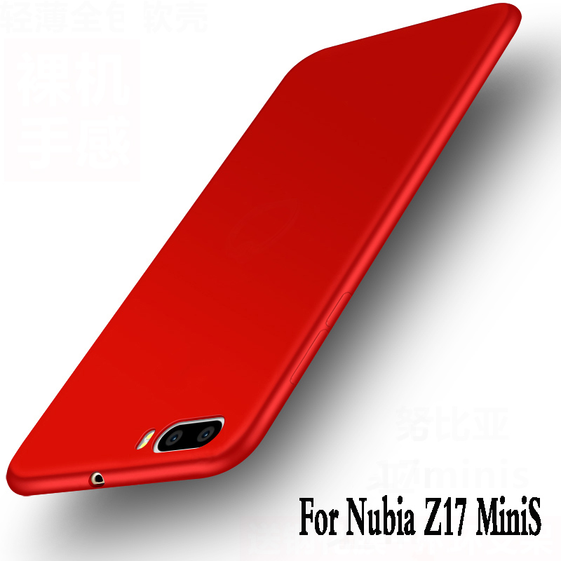 For zte nubia z17 mini S case tpu Luxury funda Protection mobile phone bag For zte nubia z17 miniS silicone cover soft back 5.2