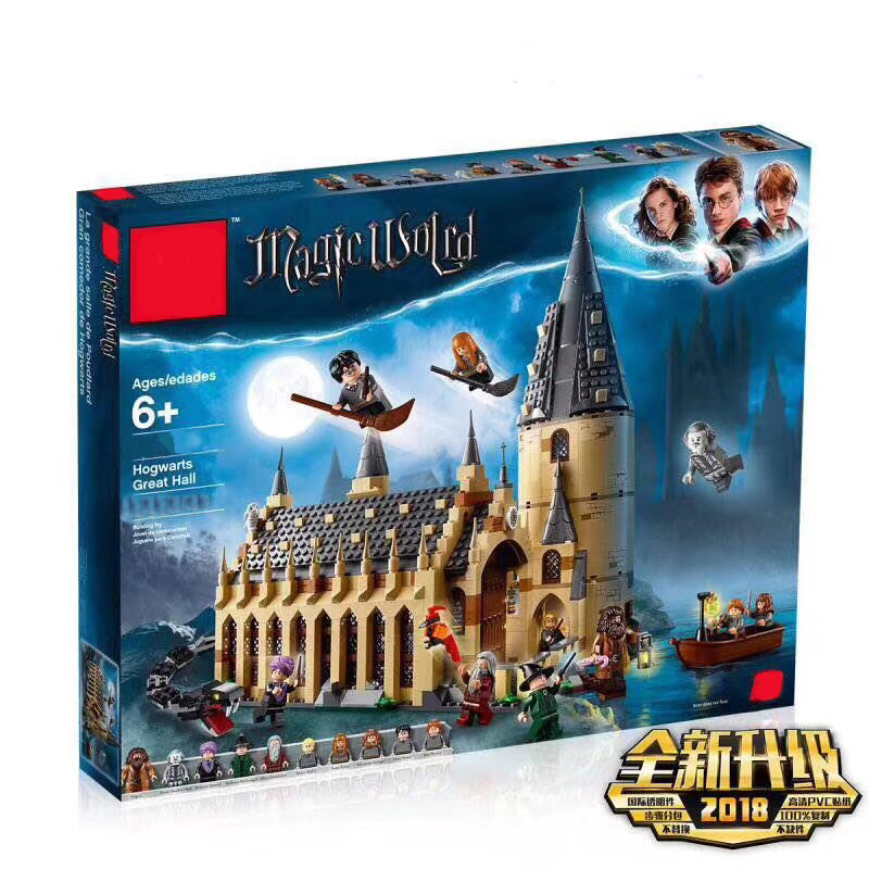 цена New Harry Potter Hogwarts Great Hall Compatibility Legoing Harry Potter 75954 Building Blocks Bricks Toys Christmas Gifts