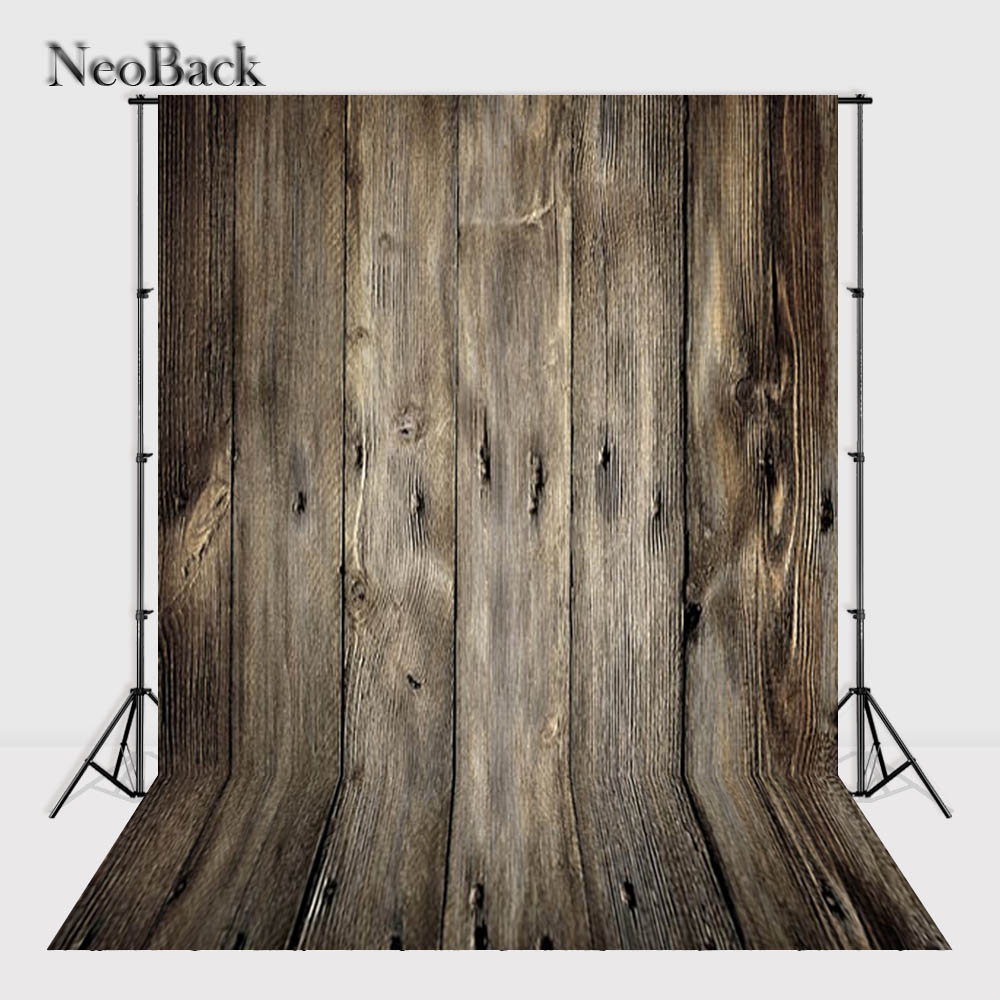 NeoBack 5x7ft vinyl Cloth Wood Floor Photo backdrop Wood Photo backgrounds for photo studio Printed Photographic Backdrops P0515