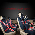 union jack customized pp suede leather car seat covers for range rover volvo porsche bmw mini cooper benz (mark your car type )
