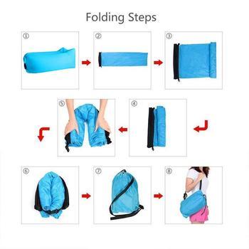 Aotu Light sleeping bag Waterproof Inflatable bag lazy sofa camping Sleeping bags air bed Adult Beach Lounge Chair Fast Folding 2