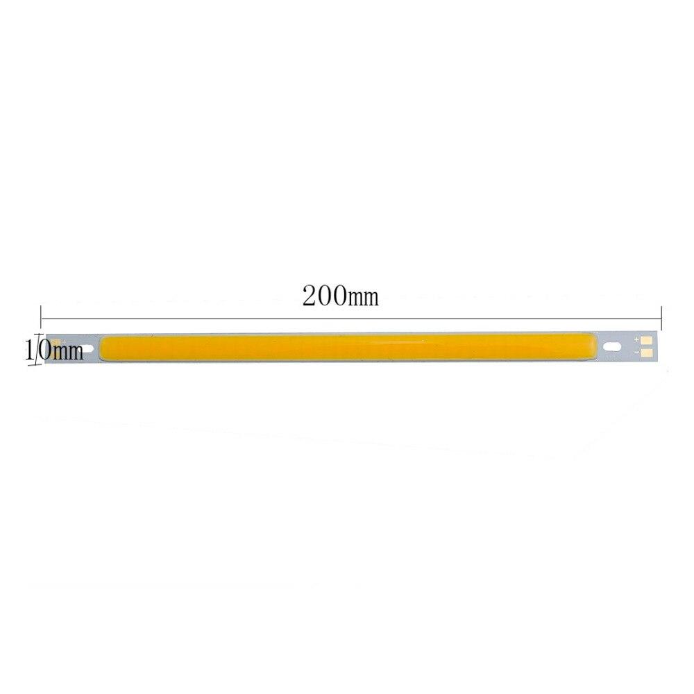 12V 10W 200*10mm COB LED Bulbs super Bright DIY White/Warm White/Blue/Green/Red color Lamps Strip Light LED COB for Decration DA