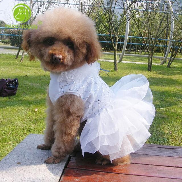 0cbe93e5e767 Estate Traspirante Dog Dress Puppy Vestiti Da Cerimonia Nuziale Della  Principessa del Pannello Esterno di Colore ...