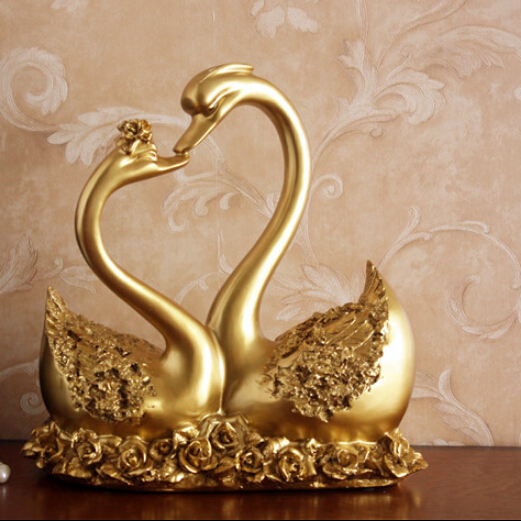 the lover swan furnishing articles creative gift wedding gifts home decor crafts resin crafts free shipping - Home Decor Articles
