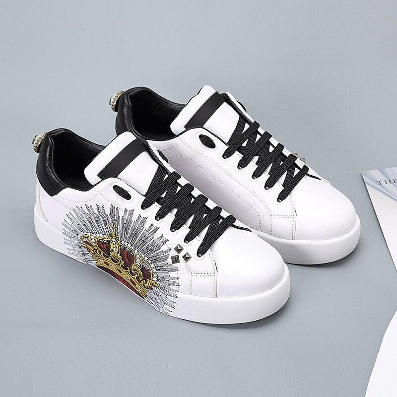 Appartements Blanc Véritable Chaussures Cuir Femmes Shoes Mocassins Loisirs 2 Casual Printemps Sneakers Shoes Mode En white Réel 218 Vache Femme Automne White 1 black SzLUMqVpG