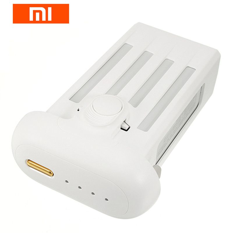 Original Xiaomi Mi Drone 4K 1080P Camera Version Gold Button 17.4V 5100mAh Rechargeable Lipo Battery For RC Drone Parts Accs original xiaomi mi drone 4k 1080p version rc fpv quadcopter spare parts 17 4v 5100mah lipo battery for camera drones accessories