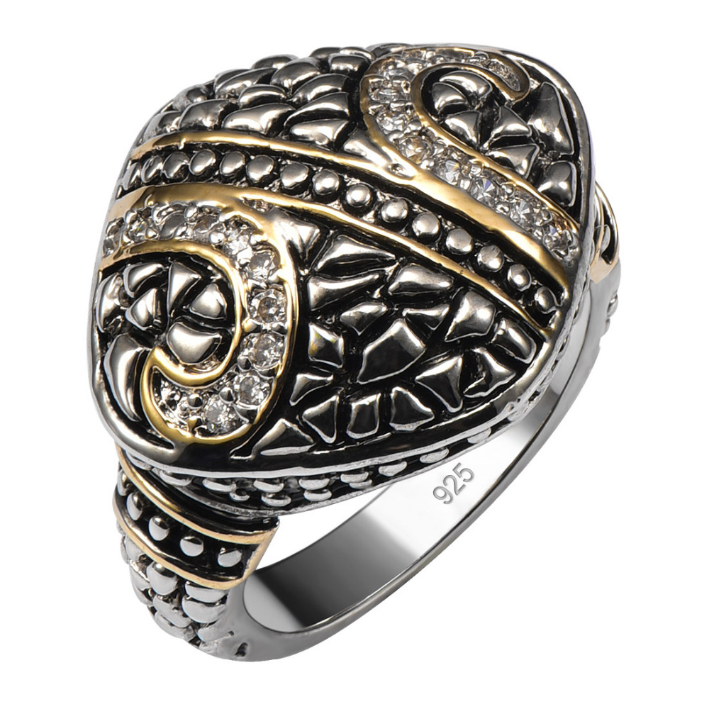 Hot Sale Vintage 925 Sterling Silver Good Quality Ring For Men and Women Size 7 8 9 10 11 F1560