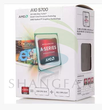 100% New AMD A10 5700 A10-5700 A10 5700K A10-5700K 3.4Ghz 65W Quad-Core CPU Processor AD5700OKA44H  Socket FM2