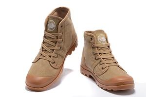 Image 4 - Bottines en PALLADIUM Pampa Hi Work pour hommes, baskets, chaussures de marche, qualité supérieure, décontracté toile, à lacets, tailles 39 à 45, décontracté